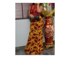 Floor-Length Sleeveless African Fashion Womens Maxi Dress