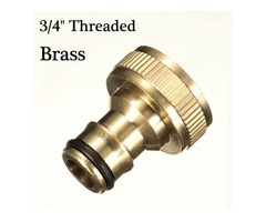 3/4 inch brass threaded garden hose water tap fittings solide connector