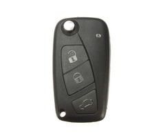 Flip FOB Key Shell Case Blade With 3 Button For Fiat Panda Grande