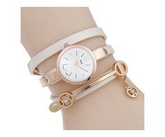 Multilayer Alloy Quartz Bracelet Watch