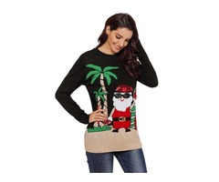 Winter New Reindeer Santa Christmas Knit pullover Sweater For Women | free-classifieds-usa.com