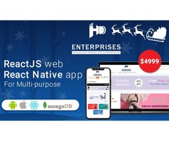 React Native App for E-Commerce at Just $4999: A Christmas Special Offer by HD Enterprises