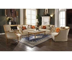 Buy Traditional Living Room Set in Antique Gold | Get.Furniture