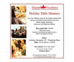 Holiday Table Manners for Kids