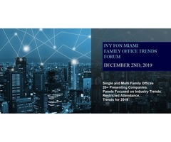 More Speakers Added December 2nd Miami Family Office Forum