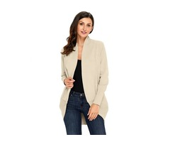 HESSZ Fashion Women New Stylish Super Soft Long Sleeve Open Cardigan