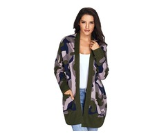 Top selling women long sleeve open front cardigan with pockets