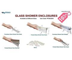 Glass Shower Enclosures - Framed and Frameless Seals and Sweeps  | pFOkUS