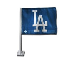 MLB Los Angeles Dodgers Wincraft Two Sided Blue Car Flag