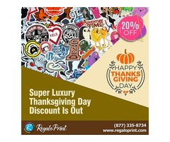 Super Luxury 20% Thanksgiving Day Discount Is Out | RegaloPrint