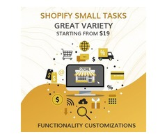 Get Shopify Small Tasks Services at Affordable Price