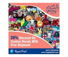 20% Discount On Custom Decals With Free Shipment | RegaloPrint