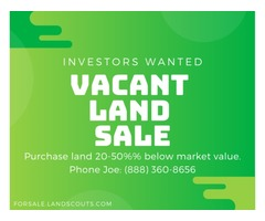 Land Wholesaler w/ Discounted Properties Seeking Investors