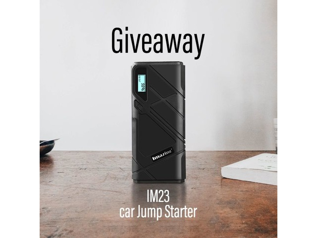 $0 to win an IM23 portable car jump starter & 12000mAH Power Bank | free-classifieds-usa.com