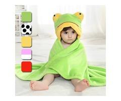Cute Animal Cartoon Baby Infant Wrap Parisarc Soft Flannel Blanket Quilt Bathrobe