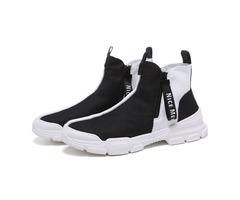 High Top Sports Zipper Round Toe Mens Sneakers