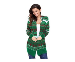 Top sale lady Christmas sweater long sleeve Xmas cardigan for woman