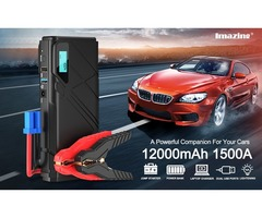 Giveaway!!!$59.99 IM23 portable car jump starter & 12000mAH Power Bank