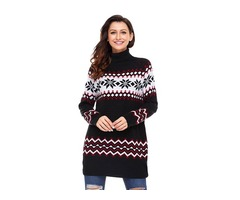 Women Knitwear Pullover Winter Christmas Sweater Long Sleeve Xmas Jumper