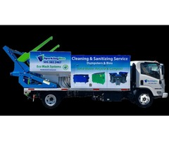 Commercial Dumpster Cleaning Truck