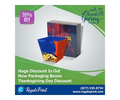 Huge Discount of Thanksgiving Day on Packaging Boxes - RegaloPrint