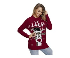 2019 New Design Winter Ladies Pullover Reindeer Christmas Knit Women Sweater