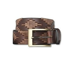 Argentinian Polo Player Embroidered Belt - Unisex For $55