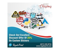 Check Out Excellent Discount Offer Of 25% On Custom Stickers| RegaloPrint