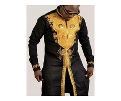 Color Block African Fashion Dashiki Slim Mens T-Shirt