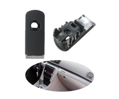 Chrome Glove Box Lock Lid Handle With Hole Dark Grey For Audi A4 8E B6 B7