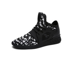 Mesh Color Block Lace-Up Mens Breathable Sneakers