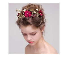 Korean Floral Hairband Hair Accessories (Wedding)