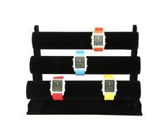 12 Inch Black 3-Tier  Watch Bracelet Jewelry Display Holder Stand