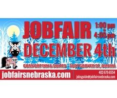 JOB FAIR - December 4, 2019  1-4 p.m.