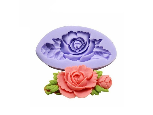 F0199 Silicone Rose Flower Cake Mould Soap Chocolate Resin Mould Baking Tool | free-classifieds-usa.com