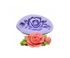 F0199 Silicone Rose Flower Cake Mould Soap Chocolate Resin Mould Baking Tool