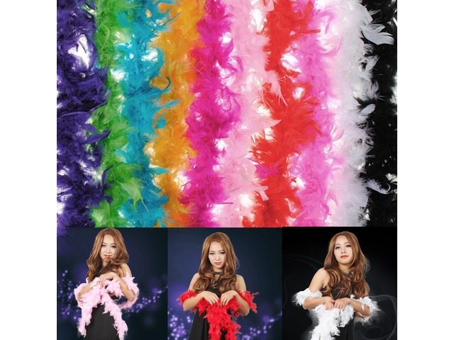 Costume Fluffy Feather Boa Hen Night Party Wedding Dress Up Scarf | free-classifieds-usa.com