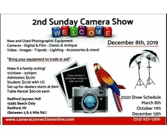 2nd Sunday Camera Show December 8th, 2019 (Buy Sell-Trade) Redford Jaycees Hall