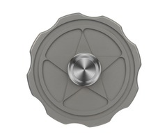 "Fidget Toy FURA ""Star"" Pattern TC4 Titanium Alloy Hand Spinner Gray"