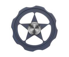 """FURA TC4 Titanium Alloy Fidget Spinner """"Circular"""" Pattern Fingertip Dark Blue"""