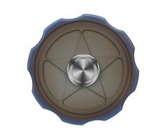 "Fidget Toy FURA ""Star"" Pattern TC4 Titanium Alloy Hand Spinner Bronze"