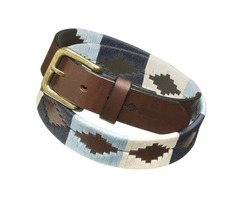 Hand Embroidered Polo Player Belt For $55
