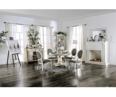Buy Kathryn Transitional Table and 4 Side Chairs | Rainbow Best Deal