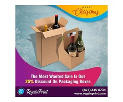 The Most Wanted Sale Is Out | 25% Discount On Packaging Boxes | RegaloPrint