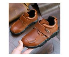 PU Round Toe Kids Sneakers
