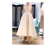 Mid-Calf Bowknot Sleeveless Pullover Summer Womens Dress