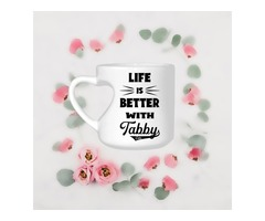 FREE SHIPPING! Life is Better With Tabby Cats Heart Shaped Mug [Last Chance Holiday Savings