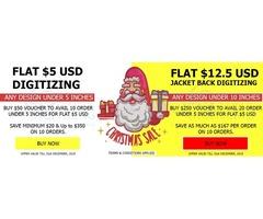 Get First 9000 Embroidery Digitizing STITCHES FREE | Logo & Hat Digitizing