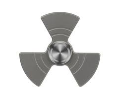 "FURA ""Fan shaped"" TC4 Titanium Alloy Fidget Spinner Gray"