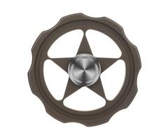 "FURA TC4 Titanium Alloy Fidget Spinner ""Circular"" Pattern Fingertip Bronze"